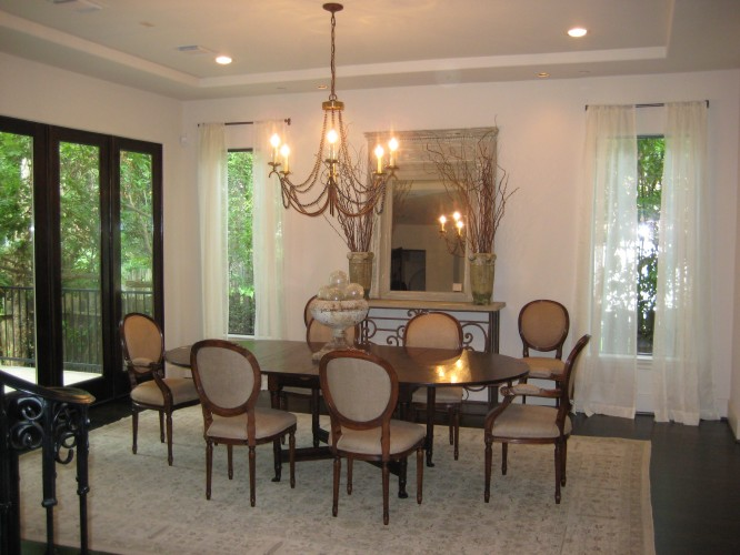Bellaire Showcase 2009, Dining Room In Custom Built House By Watermark  Builders In Bellaire Texas