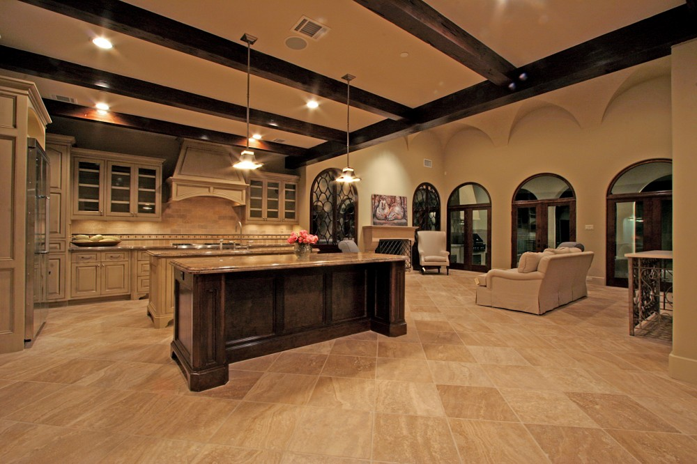 Bellaire showcase home 2007 by watermark builders kitchen for Dual island kitchen designs