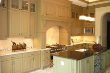 Bellarie Home Custom Kitchen built by Watermark Builders award winning new home construction in Houston Texas