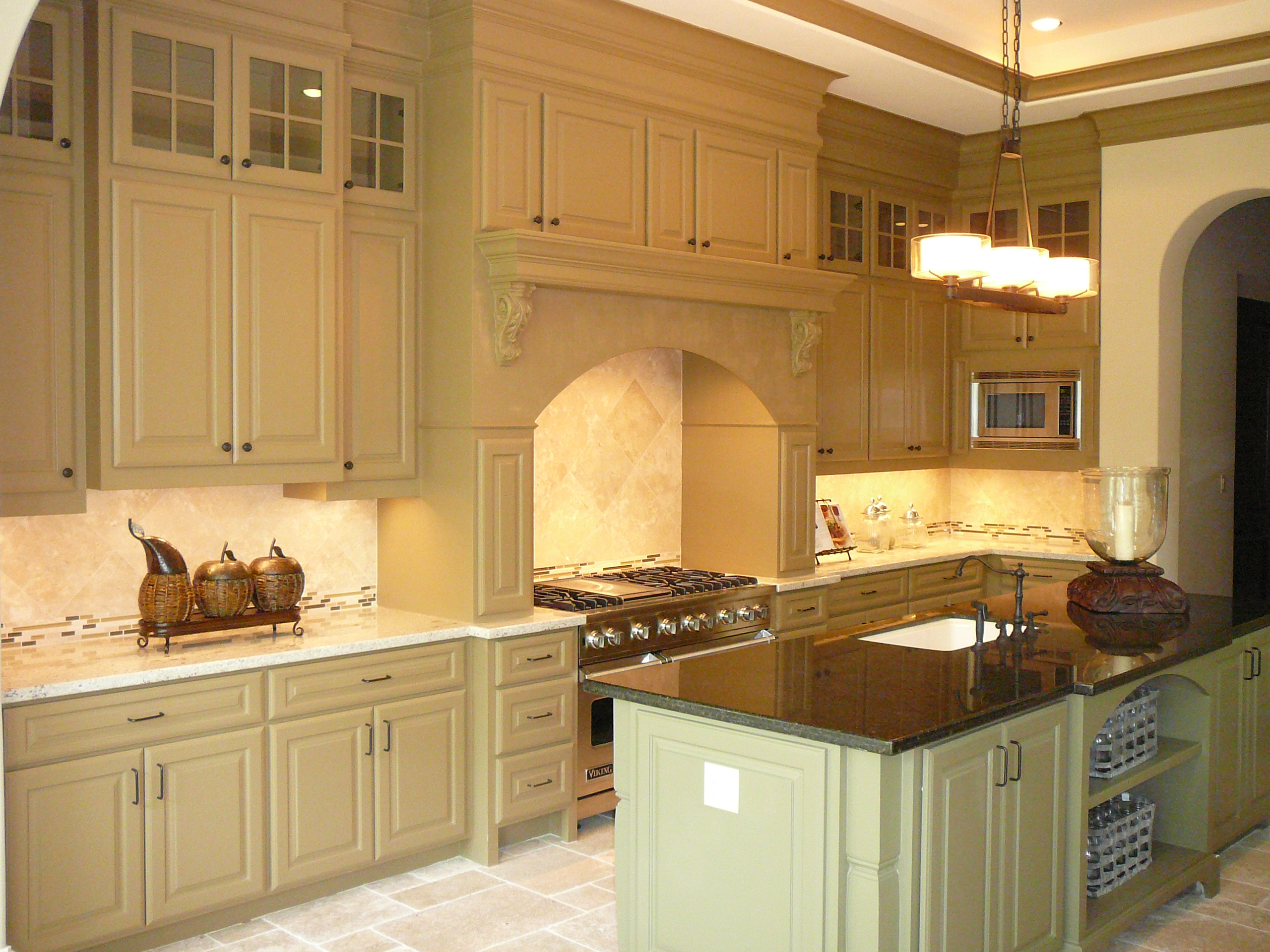 Bellarie home custom kitchen built by watermark builders for Building a new kitchen