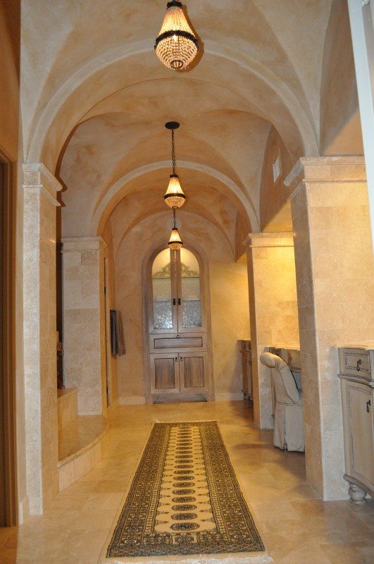 Award-winning Bellaire Texas showcase home for 2003. Watermark Builders master bath, after construction finish.