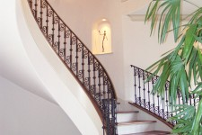Bellaire, Texas showcase home with hand forged stair rails by Watermark Builders