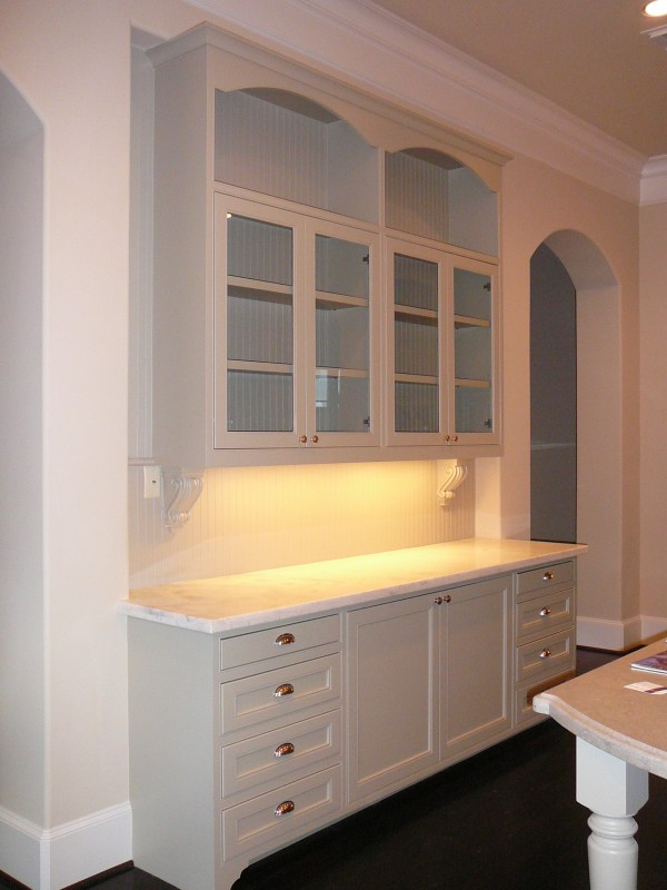 river oaks in houston texas home built by watermark builders - Built In Cabinets For Kitchen