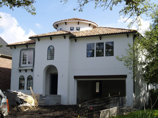 This nearly complete under construction home is Watermark Builders 2012 Bellaire Showcase Home in May
