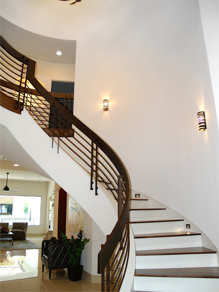 Home Builder Watermark Homes with Custom Stairwell