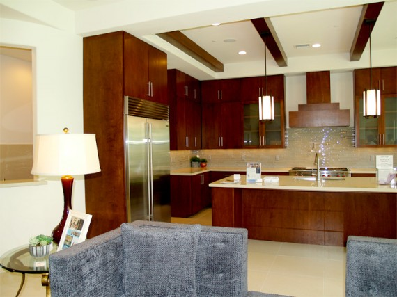 Home Builder Watermark Homes with Kitchen from Living Room