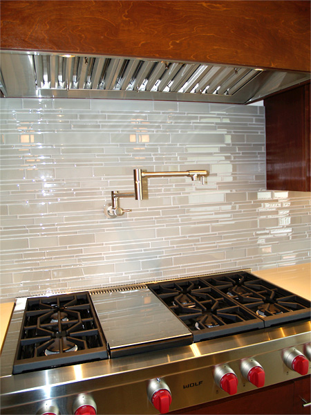 Home Builder Watermark Homes with Kitchen Stove Soup Faucet Close-up View