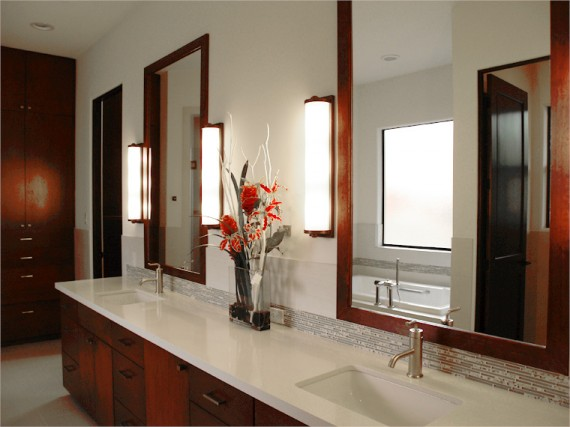 Home Builder Watermark Homes with Master Bathroom Double Vanity