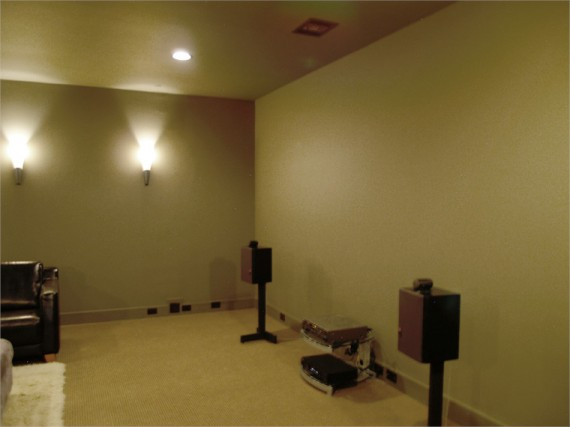 Home Builder Watermark Homes with Media Room Viewing Wall