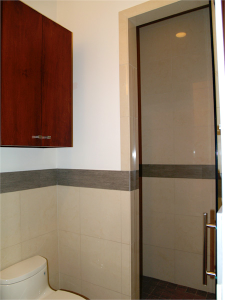 Home Builder Watermark Homes with Powder Room with Full Shower