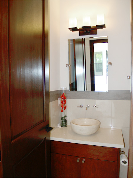 Home Builder Watermark Homes with Powder Room with Surface Mount Sink